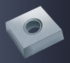 Carbide inserts for PCD/PcBN tipping