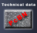 PcBN - technical data